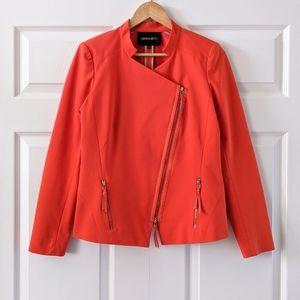Lafayette 148 NY Orange Moto Blazer Jacket | 6